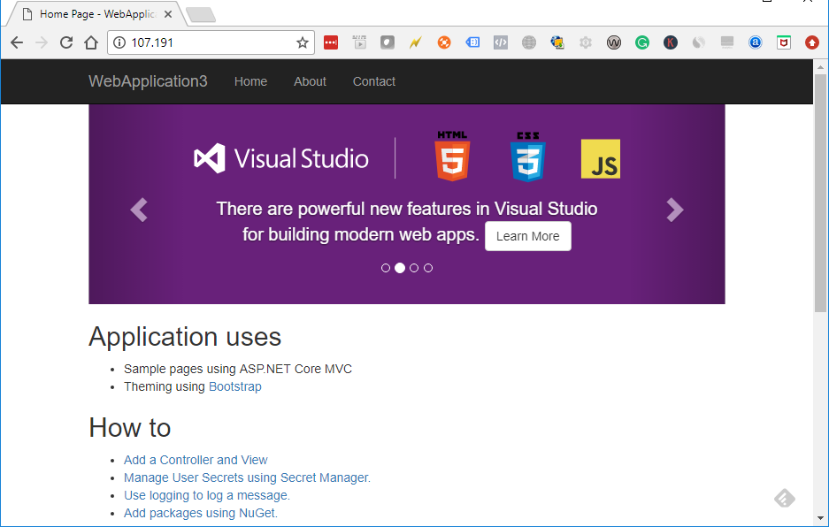 Hosting ASP NET Core on Linux using Nginx